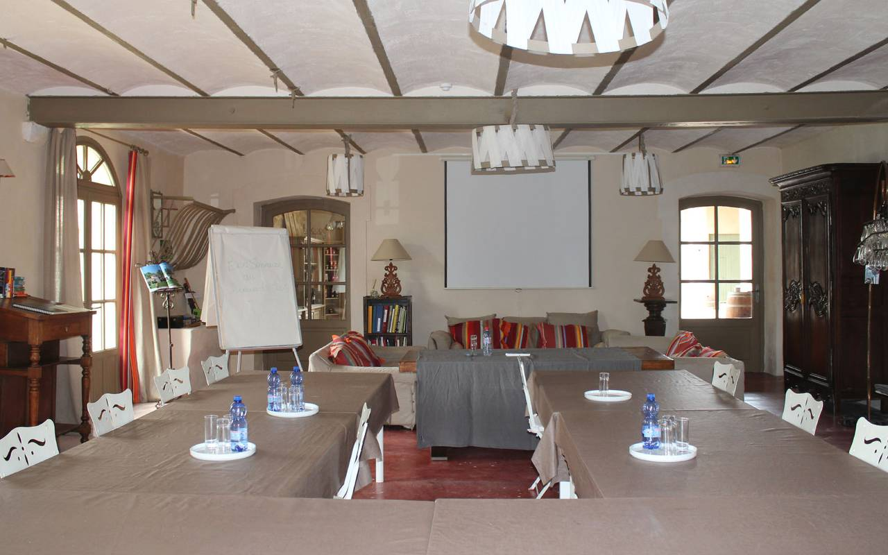 seminar room with provencal decoration